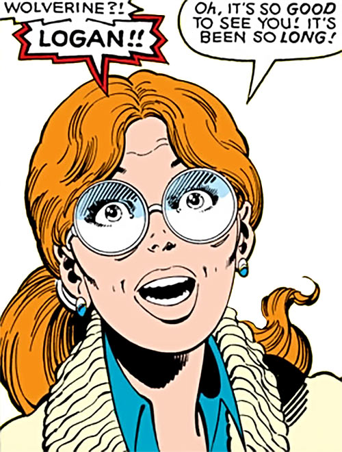 Heather Hudson (Alpha Flight) (Marvel Comics) pleasantly surprised