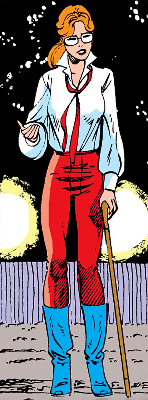 Heather Hudson (Alpha Flight) (Marvel Comics) with a cane