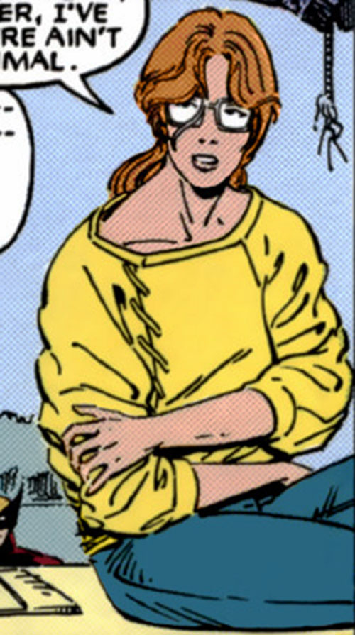Heather Hudson (Alpha Flight) (Marvel Comics) in a yellow sweater