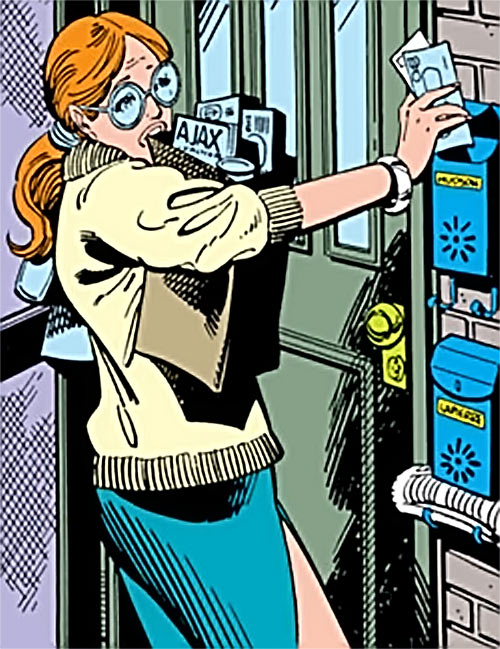Heather Hudson (Alpha Flight) (Marvel Comics) struggles with groceries