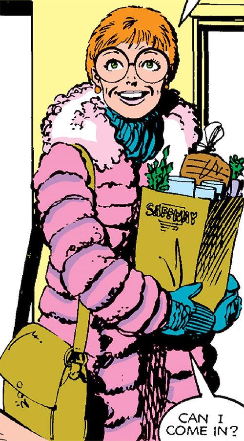 Heather Hudson (Alpha Flight) (Marvel Comics) with groceries