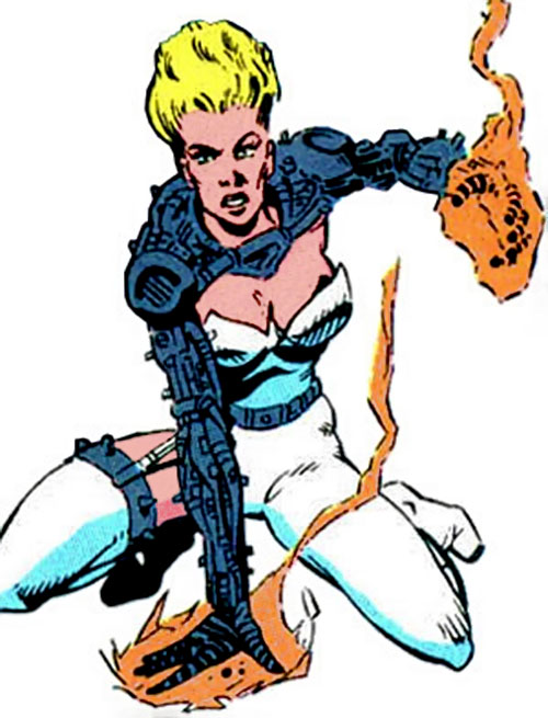 Heatmonger of the Aryan Brigade / Cadre (JLA enemy) ( DC Comics)
