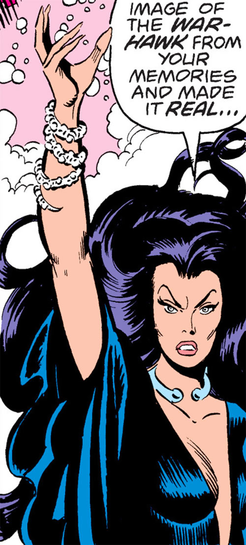 Hecate (Ms. Marvel comics) casting a spell