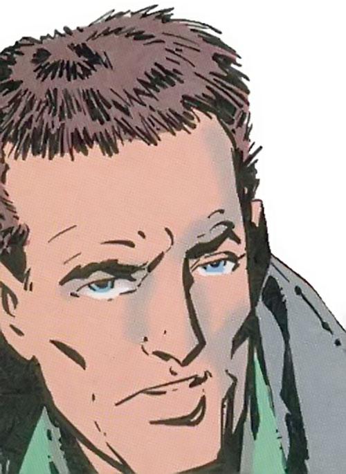 The Heckler (DC Comics) unmasked face closeup
