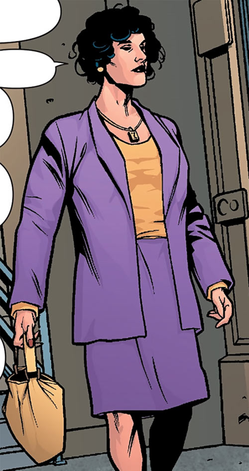 Agent Helen Helligan (7 Soldiers) (DC Comics) in a purple suit