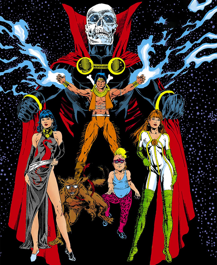 Helix group (DC Comics) shot from an Infinity, Inc cover