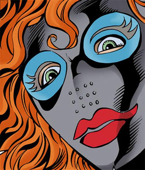 Hella (Nightwing enemy) (DC Comics) face mask closeup