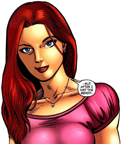 Hellcat (Patsy Walker) (Marvel Comics) in a pink top