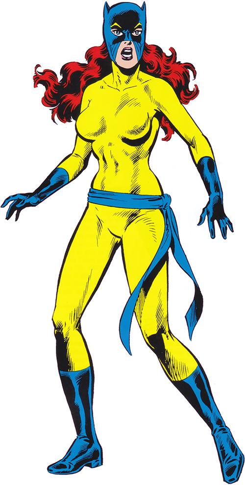 Hellcat from the 1983 Official Marvel Comics Handbook