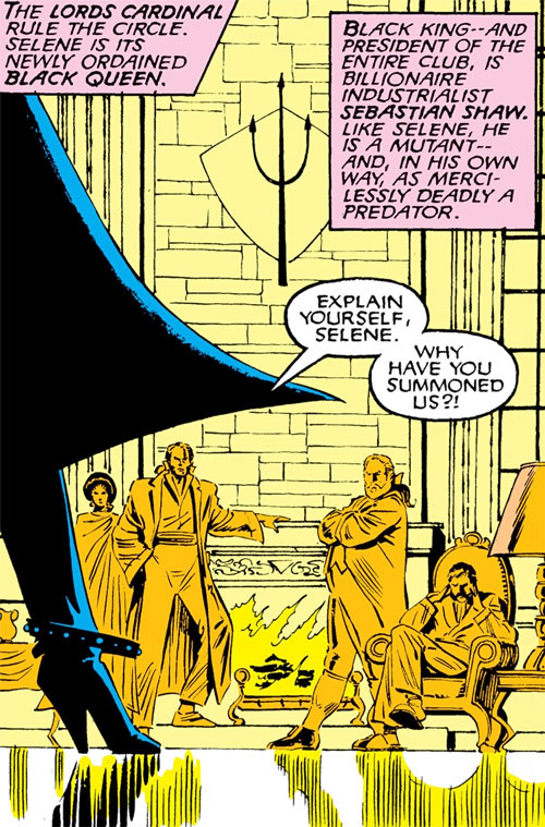 Hellfire Club (Marvel Comics) (Sebastian Shaw 1) - yellow fireplace