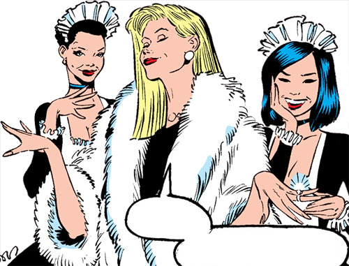 Hellfire Club (Marvel Comics) (Sebastian Shaw 1) - luxury furs jewels
