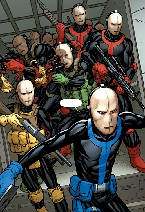 Hellfire Club (Marvel Comics) (Sebastian Shaw 1) - Color-coded Hellfire mercenaries