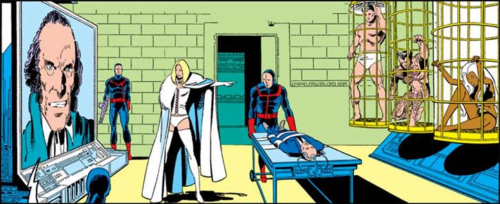 Hellfire Club (Marvel Comics) (Sebastian Shaw 1) - Captive X-Men and White Queen