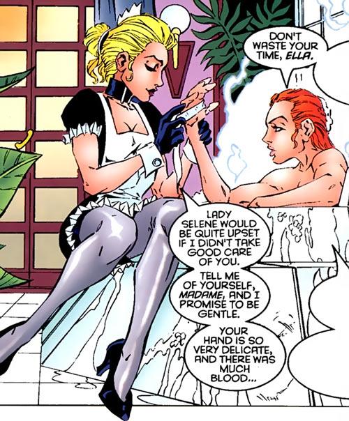 Hellfire Club (Marvel Comics) (Sebastian Shaw 1) - maid bandaging hand bath