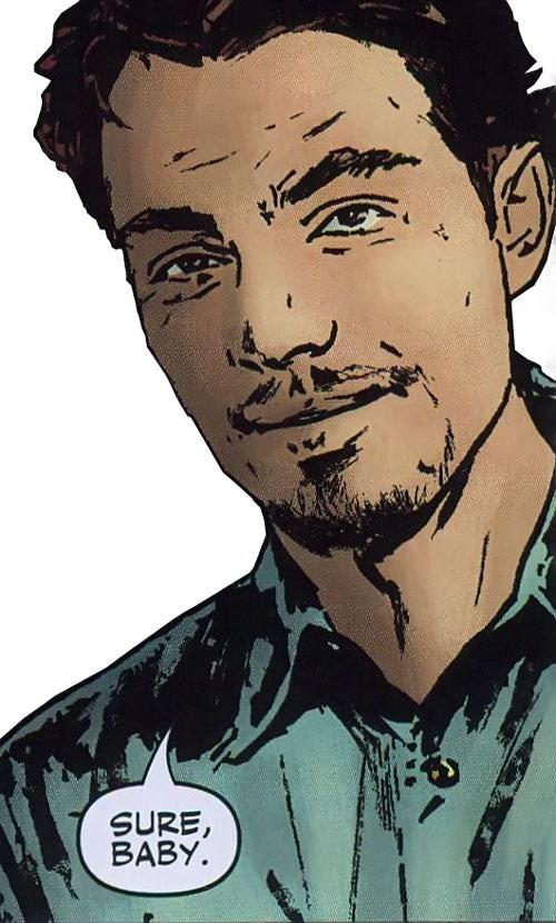 Hellfire of the Secret Warriors (Marvel Comics) face closeup