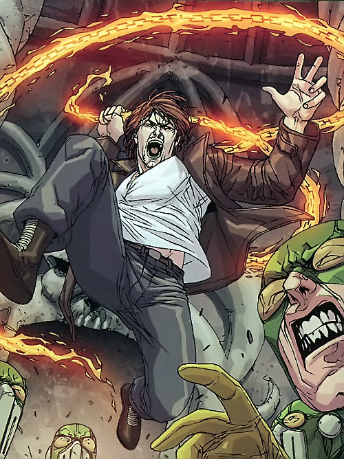 Hellfire of the Secret Warriors (Marvel Comics) vs. Hydra soldiers