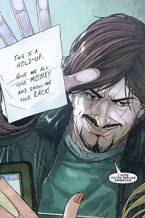 Hellfire of the Secret Warriors (Marvel Comics) bank hold up