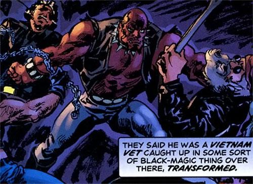 Hellhound (Astro City comics) fighting bikers