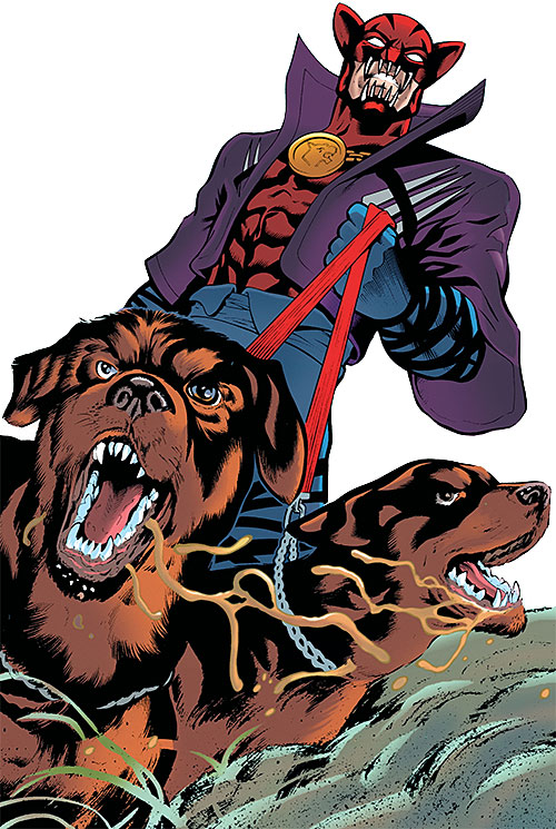 Hellhound (Catwoman enemy) (DC Comics) (Kai) with hunting dogs