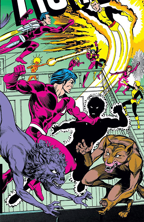 Hellions (Emma Frost students) (Massachusetts) vs. the New Mutants