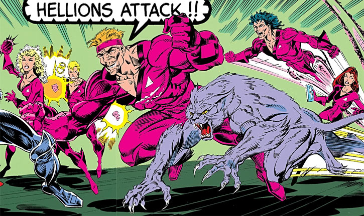 Marvel Comics' Hellions team in 1991 in New Warriors