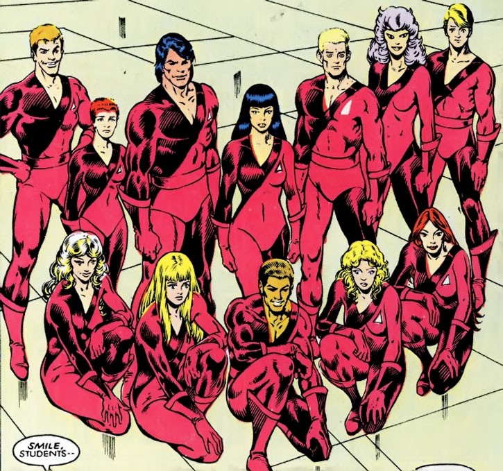 Group shot of the merged Hellions and New Mutants roster