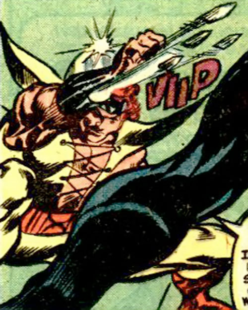 Hellrazor (Marvel Comics) shooting his blades