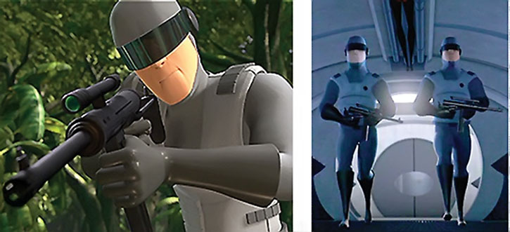 Henchmen from the movie The Incredibles