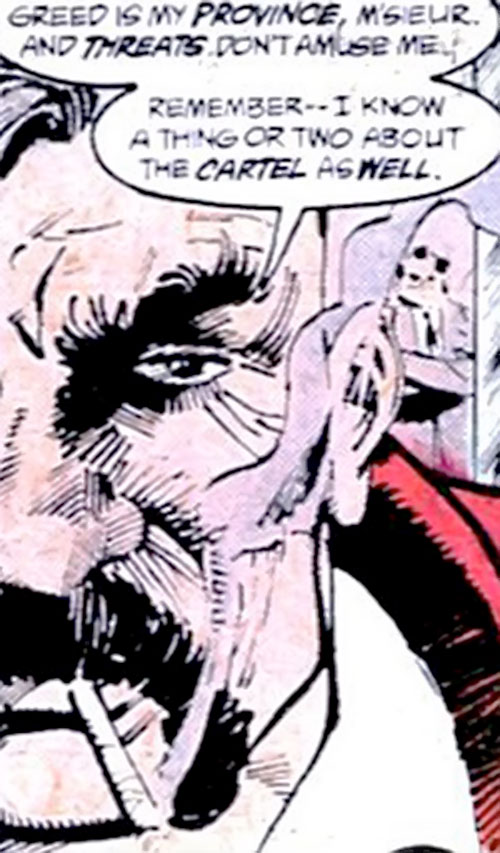 Henri Ducard (Batman character) (DC Comics) half face closeup