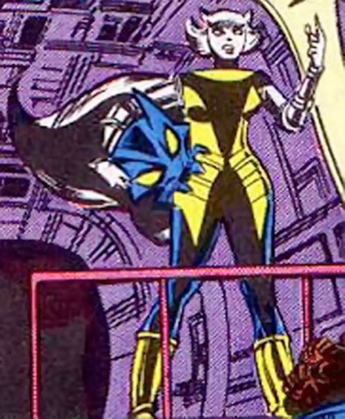 Hepzibah of the Starjammers (X-Men Marvel) and her Mephitisoid armor