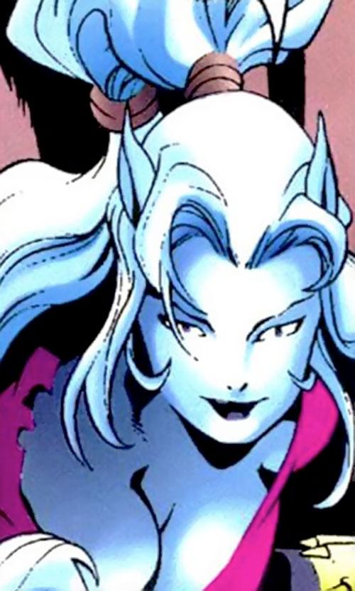 Hepzibah of the Starjammers (X-Men Marvel) in a pink top