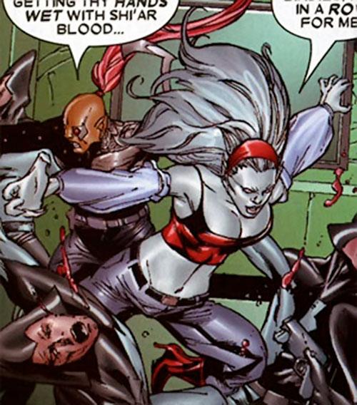 Hepzibah of the Starjammers (X-Men Marvel) with Raza