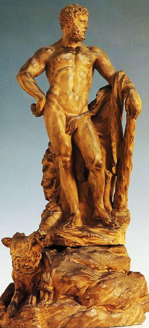 Hercules (mythology) - golden statue