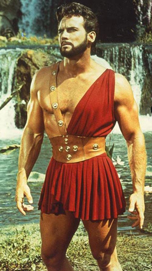 Hercules (mythology) - Steve Reeves in red