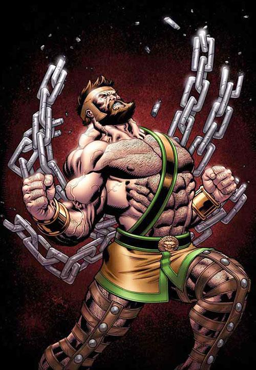 Hercules (mythology) - Marvel version breaking chains