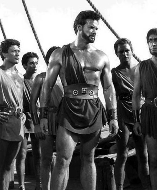 Hercules (mythology) - Steve Reeves among men in togas