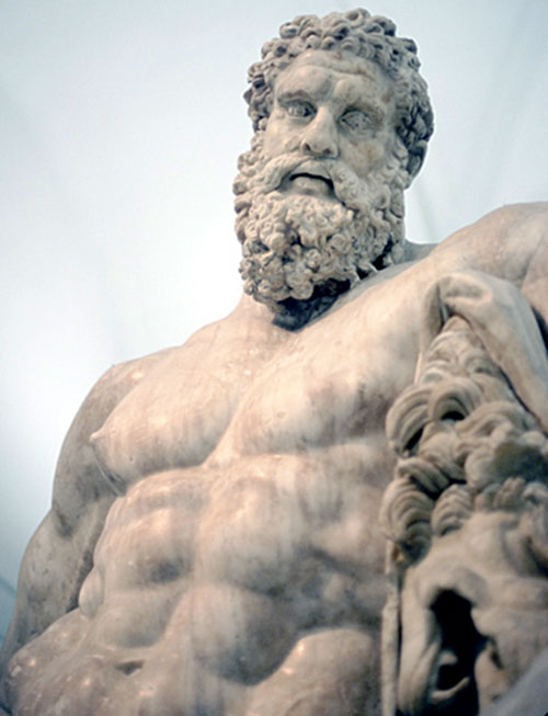 Hercules (mythology) - marble statue