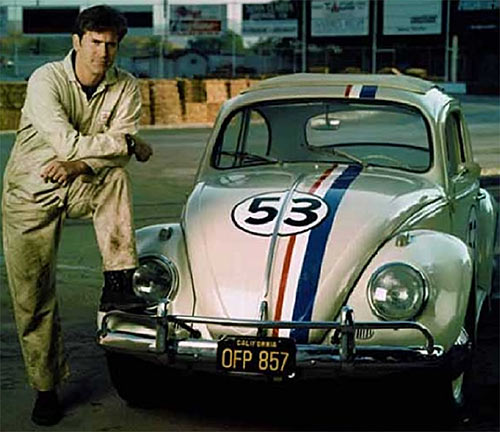 Herbie the love bug (Disney movies) with Bruce Cambell