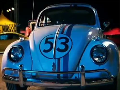 Herbie the love bug (Disney movies) front view by night