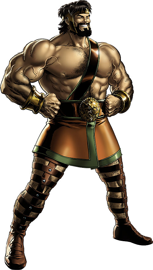 Hercules (Marvel Comics) with classic beard and costume