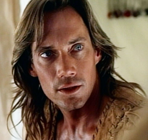 Hercules (Kevin Sorbo in Legendary Journeys) reacting