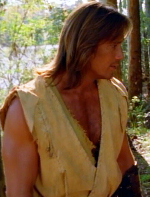 Hercules (Kevin Sorbo in Legendary Journeys) near a river