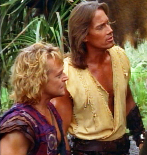 Hercules (Kevin Sorbo in Legendary Journeys) and Iolaus