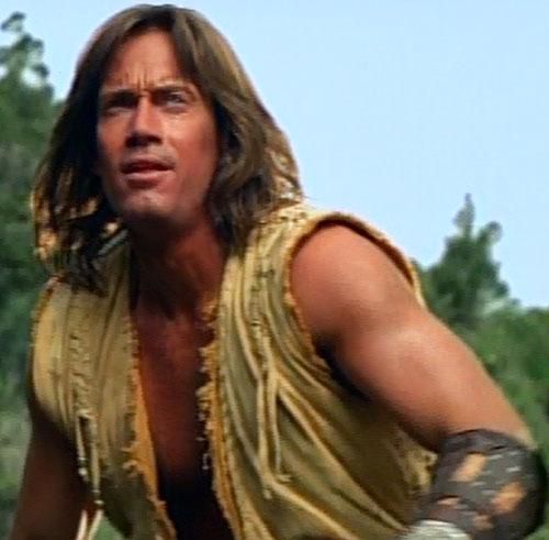 Hercules (Kevin Sorbo in Legendary Journeys) ready for action