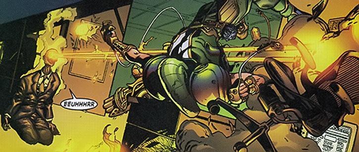 Hexus the Living Corporation vs. Marvel Boy (Noh-Varr)