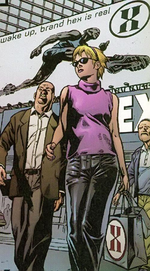 Hexus the Living Corporation advertisement (Marvel Boy enemy) (Marvel Comics)