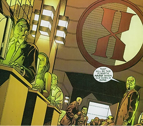 Hexus the Living Corporation workers and management (Marvel Boy enemy) (Marvel Comics)