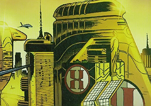 Hexus the Living Corporation HQ (Marvel Boy enemy) (Marvel Comics)