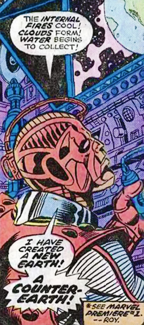 High Evolutionary (Marvel Comics) creating Counter-Earth