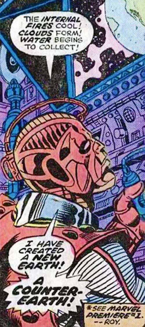 High Evolutionary (Marvel Comics) creating Counter-Earth
